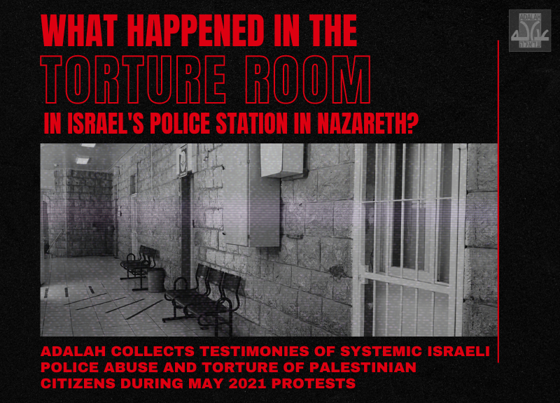 Israel's Campaign of Repression & Terror Included a 'Torture Room' in Nazareth Police Station
